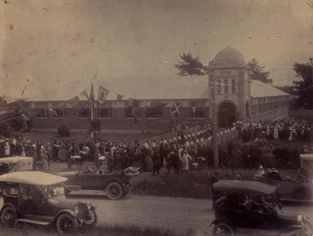 Opening of Foxton School 1920