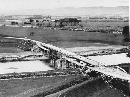 Construction of new Opiki bridge, 1969