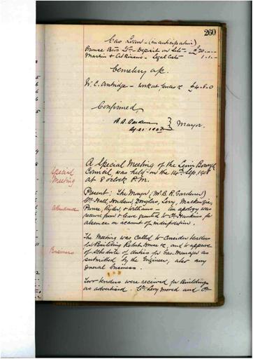 Meeting 78 - 14 September 1908