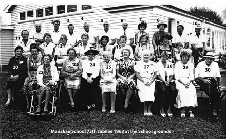 Manakau School 75th Jubilee 1963 at the School grounds r