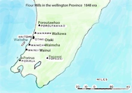 Flour Mills in the Wellington province 1848 era