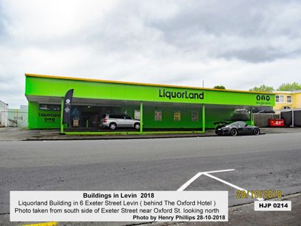 Liquorland Building in 6 Exeter Street Levin