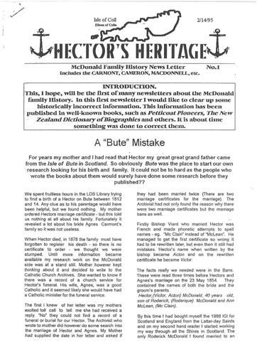 Hector's Heritage