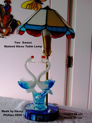 Two Swans table lamp