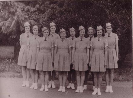 McDuffs Marching Team at Queen Carnival, 1941