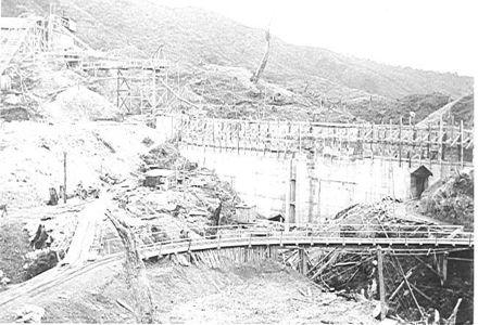 Tokomaru (Arapeti) Dam nearing completion, 1924