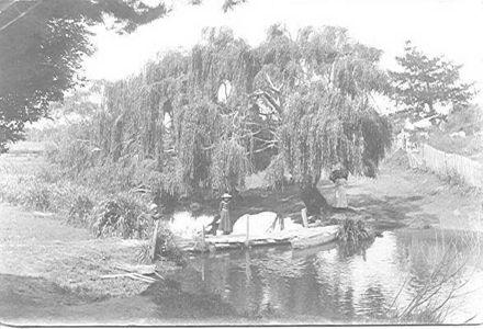 Footbridge on Hokio Stream