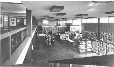Photo of the inside of the Levin Public Library