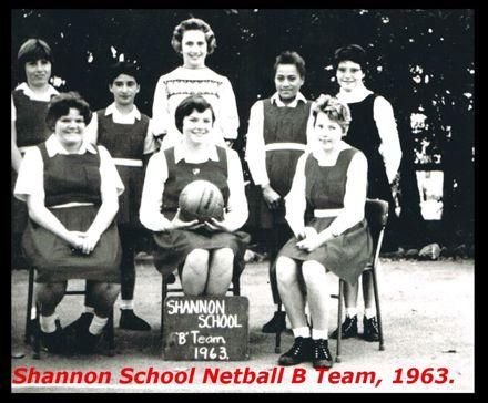 Shannon School Netball B Team, 1963