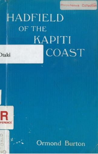 Hadfield of the Kapiti Coast front cover