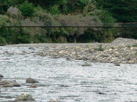 Gladstone swing- bridge/ river.