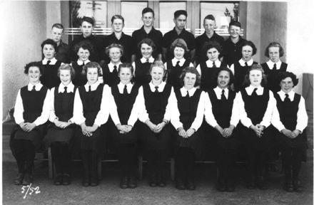 Foxton School, Secondary Class 5 (Form 3A?), 1952