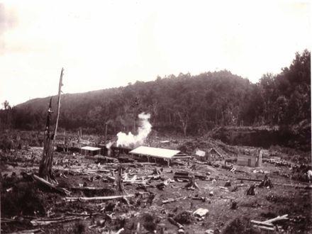 Bartholomew's sawmill, Makahika Valley, c.1906