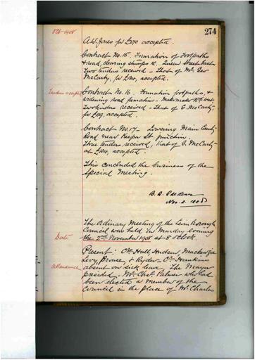Meeting 83 - 2 November 1908