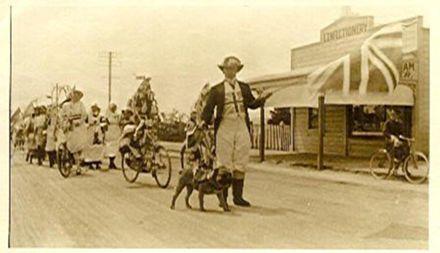 Mr W.G. Vickers as John Bull, Victory Parade, 1918