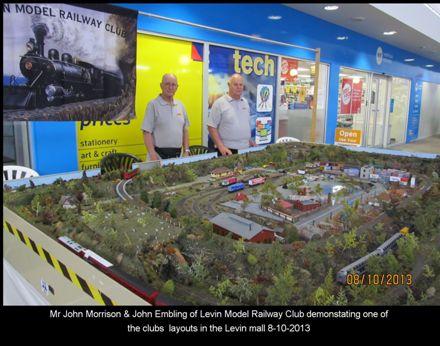 3252 John Morrison and John Embling LMRC in the Levin Mall 8-10-2013