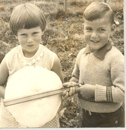 Children with giant mushroom, 1968