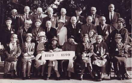 First Decade Pupils (1889 - 1899) at 75th Jubilee, Shannon School, May 1964