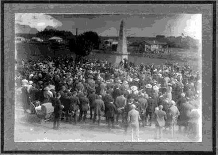 Unveiling of War Memorial, Shannon, 25 April 1924