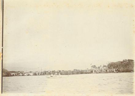 Boat race on Lake Horowhenua