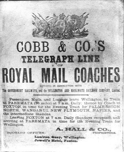 Cobb & Co. information poster