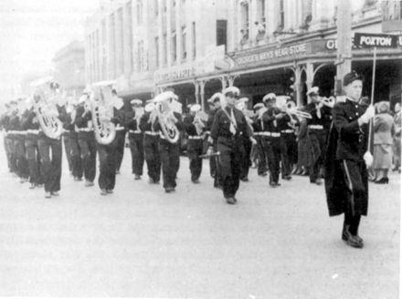 Foxton Silver Band in Invercargill in 1956