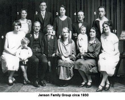 Jenson Family Group circa 1930