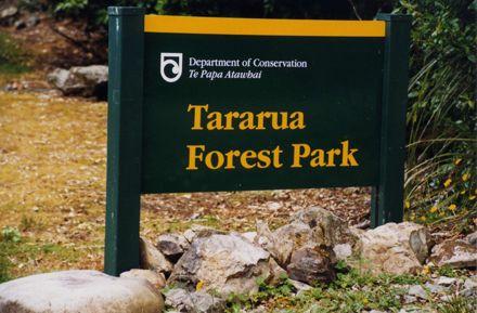 Tararua Forest Park Entrance at Mangahao