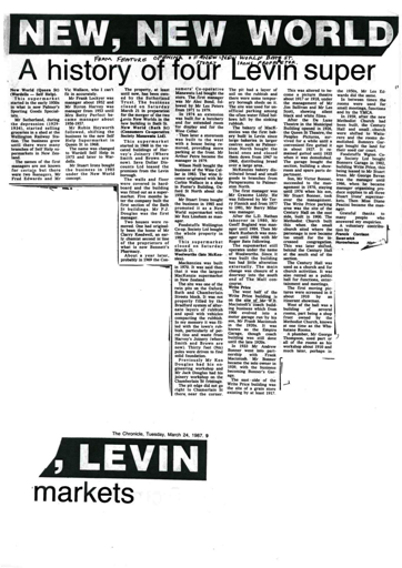 New, New World, Levin