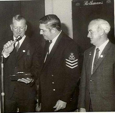 H.M.S. Eagle (plaque & photo) to Levin R.S.A., 1971