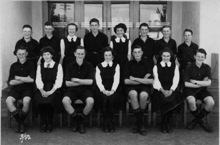 Foxton School, Secondary Class 3 (?), 1952