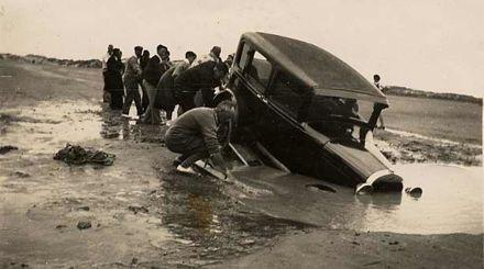 Car Stuck in Hole, Foxton Beach