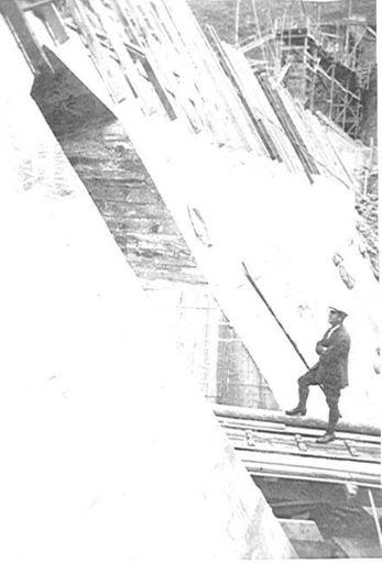 Back slope of Tokomaru (Arapeti) Dam, 1924