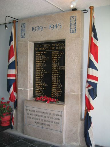 Levin RSA WWII memorial