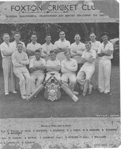 Foxton Cricket Club - Champion Team, 1949-50