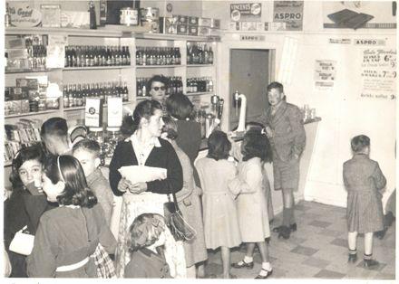 Group of children in Regent Theatre sweet shop
