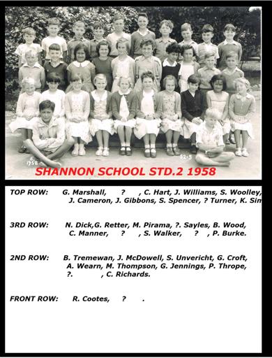 Shannon School Std 2-3, 1958