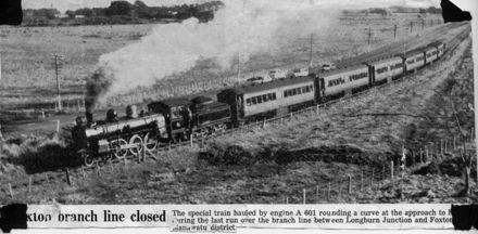 Foxton's Last Train  to Palmerston North 1959