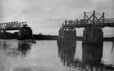 Whirokino Bridge After Span Collapse