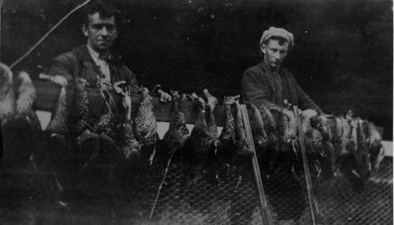 Sunley and Judd Duck Shooters, Tokomaru Stream, c.1930's