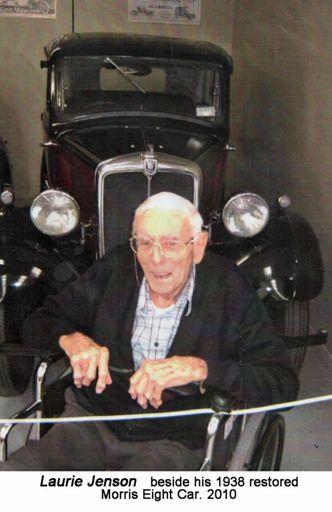 Laurie Jenson beside his 1938 morris eight car 2010
