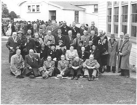 Pupils (1st 10 years) at Ohau School 60th Jubilee, 18/8/51