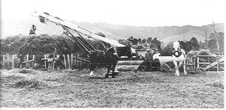 Hay-making, James Prouse farm, 1913