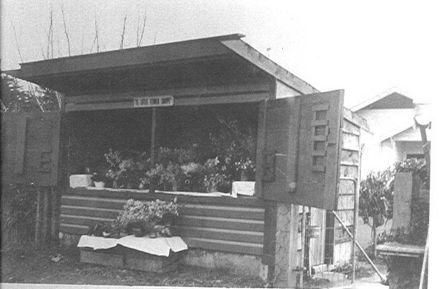 Mrs McDonnell's flower stall