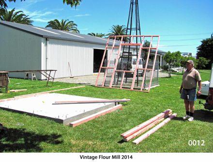 Concrete foundation ready for framing