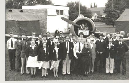 Group in front of aircraft at Kimberley Gala