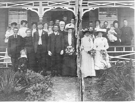 Wedding - Walter Scott & Lottie Nisbet, 1910