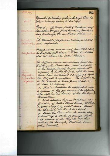 Meeting 52 - 16 December 1907