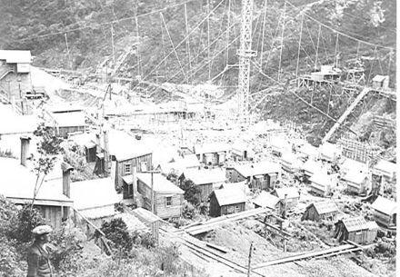 Mangahao Dam & construction camp, 1920's