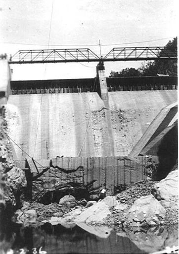 Flood Damage, Mangahao No.1 Dam, 1936